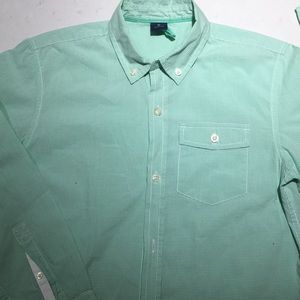 Boys XL 12 Gap Long Sleeve Dress Shirt Gingham